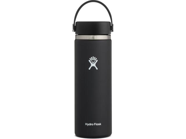 Hydro Flask Wide Mouth Flaske Med flex cap 591ml, black